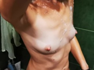 Wife's shower before date, cuckold films 60fps