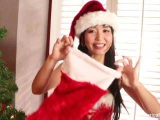 Japanese cutie Marica Hase celebrates Christmas with a sexy solo