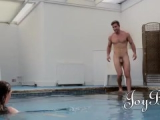 Hot Couple Fucks After Pool Date