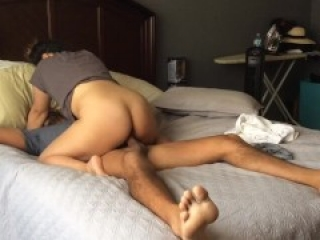Asian tinder date riding big dick