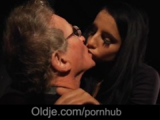 Young girl has blind date with old grandpa that turns into hot sex