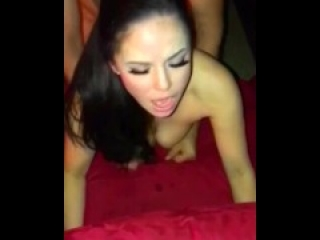 Asian Wife Fucked Cuckold POV Homemade Amateur