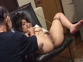 Subtitles bizarre Japanese BDSM anal play enema