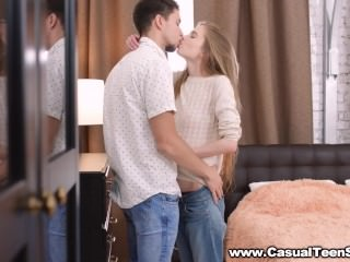 Casual Teen Sex - Lindsey Vood - Romantic date leads to anal