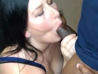 Tinder date lets me suck on his thick black cock