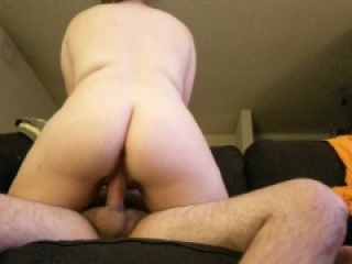 Amateur wife rides husband on date night