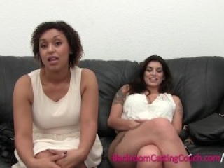 Busty BFFs Interracial Threeway Casting