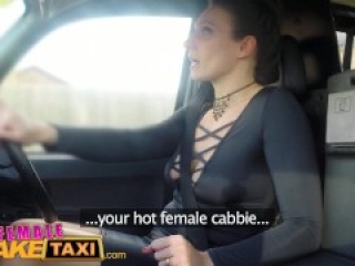 Female Fake Taxi Dating horny busty babe gets better squirting orgasm offer