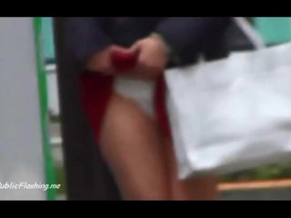 Asian pantie flash in public first time