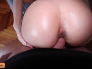 Tinder Date Fucked and Creampied With a Butt Plug in!