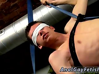 Asian clothes cutting and bondage gay He's