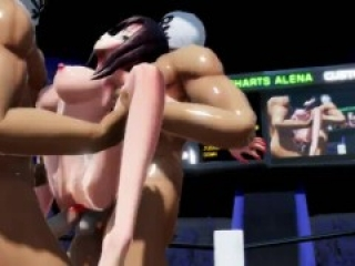 MMD SEX Double Penetration Attack In The Ring - A Short