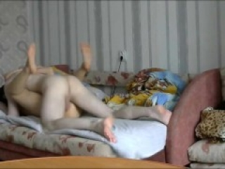 real 20 YO horny Russian girl getting morning sex after 2nd date night