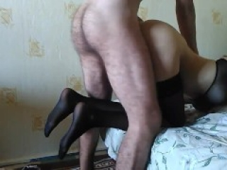 Schoolgirl in stockings gave on the first date. HARD SEX