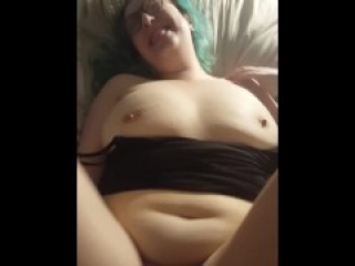 Green Haired E-Girl Tinder date takes dick at Hotel Preview