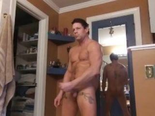 Jerking off before a date